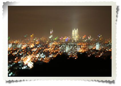 Blurred View of KL Skyline
